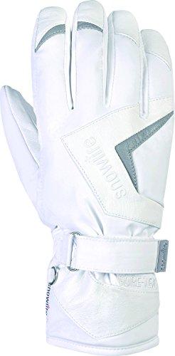 Snowlife Skihandschuhe Snowboardhandschuhe Damen mit echtem Leder, Gore-TEX Membrane und +Gore 2in1 Technologie besonders warm Hot Dog GTX 2in1 Glove, weiß, L/S
