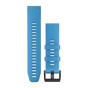 Garmin QuickFit 22 Uhrenarmband für Fenix 5 Plus/Fenix 5, Silikon, Cyanblau, 010-12740-03