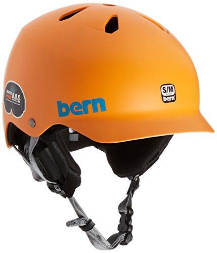 Skater-Helm Watts von Bern, Allwetter-Helm S / M Satin Orange