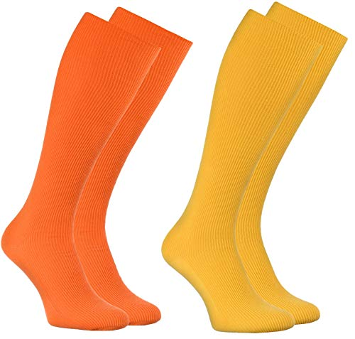 Calcetines amarillos largos sin elástico