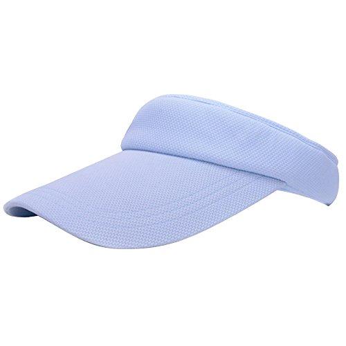 Preisvergleich Produktbild Unisex Sport Tennis Beach Plain Sun Visor Cap Einstellbare Hat Himmel Blue
