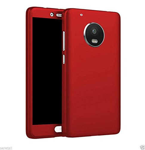 best service caa37 fb0a0 Dream2Cool Motorola Moto E4 Plus 360 Degree Ipaky-Full Body Protection  (Front+ Back + Temper Glass) Case Cover Motorola Moto E4 Plus,RED