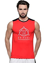 Proline Mens Red Tank Top-(Large).