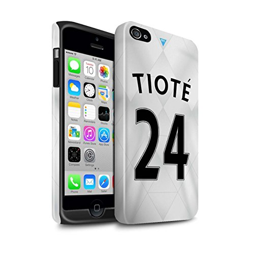 Officiel Newcastle United FC Coque / Brillant Robuste Antichoc Etui pour Apple iPhone 4/4S / Pack 29pcs Design / NUFC Maillot Extérieur 15/16 Collection Tioté