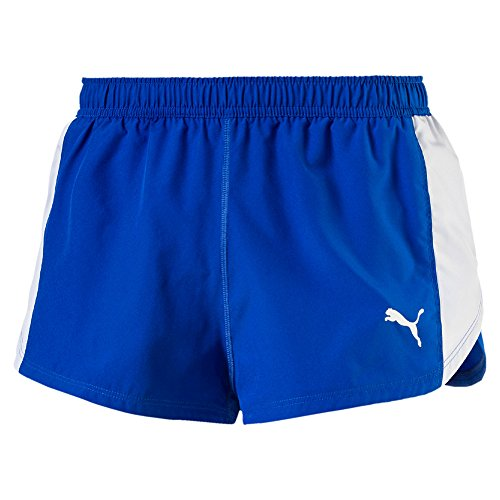 PUMA Erwachsene Cross the Line Split Short Hose, Team Power Blue, XS (Split Team Short)