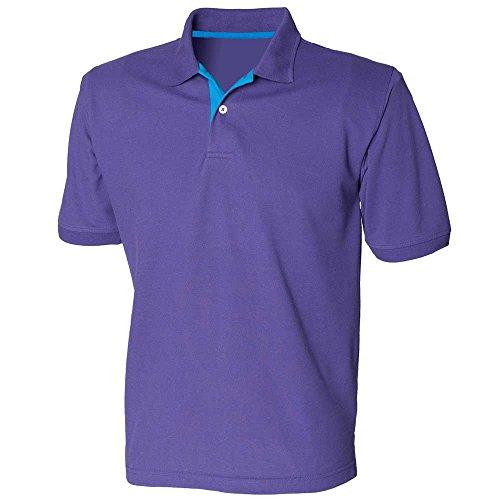 HenburyHerren Poloshirt Purple/Sapphire