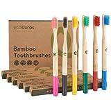 EcoSlurps 6 Paquete familiar de cepillos de dientes de bambú   Árbol plantado con venta   Cepillo de dientes de madera orgáni