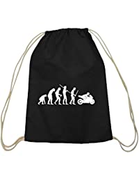 Bike All Day Gymsack Black Turnbeutel Motorrad Fahrrad Outdoor Sport Mountainbik