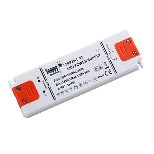Kingled - alimentatore enclosed led snappy, 20w 24v 0.84 ampere, tensione costante, modello snp20-24vf, 1 uscita, trasformatore da ac 220v a dc 24v, cod. 2066