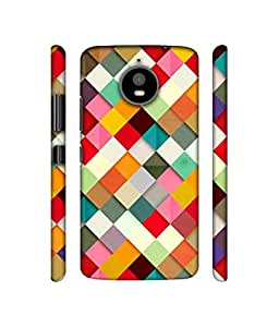 NattyCase Small Colourfull Boxes Design 3D Printed Hard Back Case Cover for Motorola Moto E4 Plus