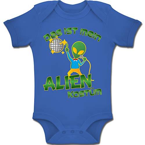 Karneval und Fasching Baby - Das ist Mein Alien Kostüm Disco - 3-6 Monate - Royalblau - BZ10 - Baby Body Kurzarm Jungen Mädchen (Aliens Kostüm Mit Baby)