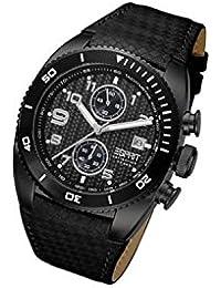 Esprit Collection Herren-Armbanduhr XL Triton Night Chronograph Quarz Leder EL900231005