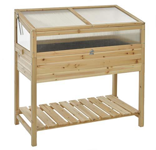 GASPO Hochbeet für Balkon und Garten | Frühbeet aus Holz | 100 x 50 x 70 cm | einfache Montage für Hobbygärtner