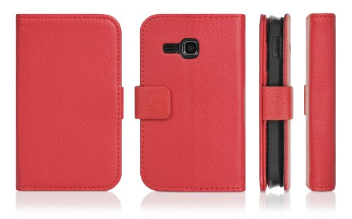 DONZO Wallet Structure Custodia per Samsung Star Deluxe DuoS S5292 rosso
