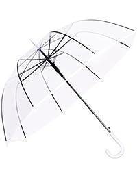 HOMEIC Paraguas de mano larga, transparente, para la lluvia, para mujeres, hombres