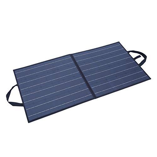 Wenwenzui-IT Alimentatore da Campeggio Flessibile Pieghevole monocristallino da 100W a Pannelli solari