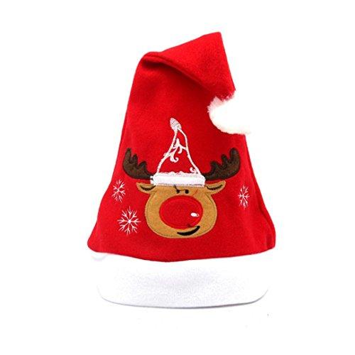Weihnachtsmützen Weihnachtsfeier Hut Santa Red Cap für Santa Claus Kostüm Weihnachtsmann Mütze Weihnacht Nikolaus Für Kinder Erwachsene Upxiang ()