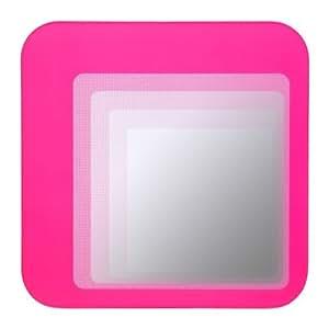 ikea hylkje miroir 30 x 30 cm retro rectangulaire coloris assortis rose rose. Black Bedroom Furniture Sets. Home Design Ideas