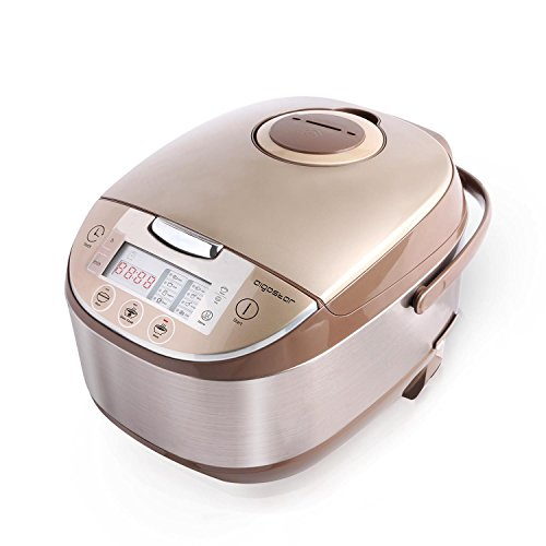 Aigostar Golden Lion 30HGY - Robot de cocina multifunción, 5L, libre de BPA. 918 W, 11 funciones programables, tapa extraíble y lavable, temporizador programable y función mantener caliente.