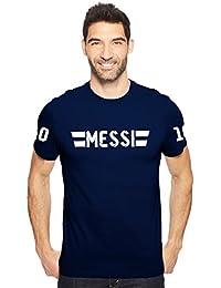 Trending Lionel Messi 10 Men's Cotton Round Neck Tshirt In Navy Blue, Black & Red