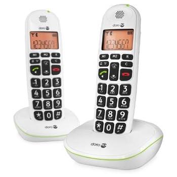 doro phone easy 100w t l phone fixe sans fil blanc high tech. Black Bedroom Furniture Sets. Home Design Ideas