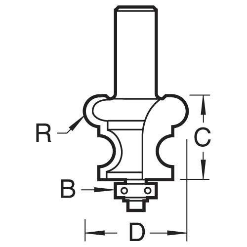 Trend - Kleine Raupe Fräserradius 3,2mm Radius - 9/56X1/2TC