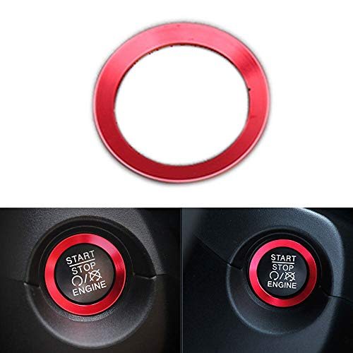 Car Ignition Switch Key Cover For Compass Engine start Stop Key sticker Car  Styling Auto Accessories (red)