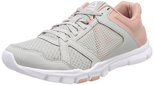 Reebok Yourflex Trainette 10m, Femmes Chaussures De Sport, Gris (gris Crâne / Craie Rose / Blanc 000), 38,5 Ue