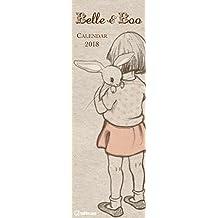 Belle & Boo 2018 - Slim Notes Kalender, Spaltenkalender, Notizkalender, Streifenkalender - 14,5 x 42 cm