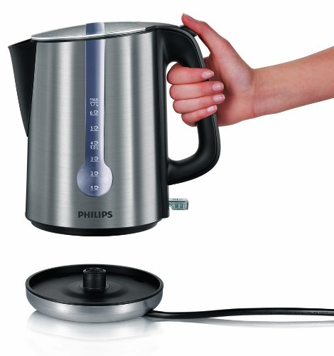 Philips HD4671/20 Energy Efficient Kettle, 3000 W , 1.7 L – Brushed Metal