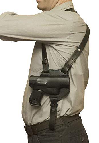VlaMiTex S1 Pistole Schulterholster Leder Walther P99 PPQ M2 Schwarz -