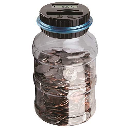Polai Spardose mit Zähler Münzenzähler Spardose Piggy Bank Geld Sparen Box (Euro) (Geld Zähler Maschine)