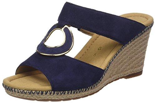 Gabor Shoes Damen Comfort Sport Pantoletten, Blau (Blue (Jute/Naht)), 42 EU