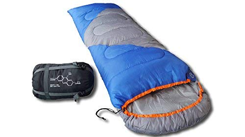 Mountaineers Outdoor Sleeping Bag, 4 Season, XL Pillow Pocket & Water Resistant Outer Shell - Including Foot Zipper… 1