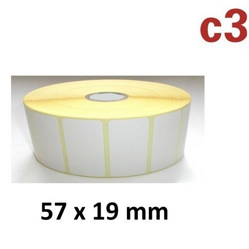 57x19 mm ThermoEtiketten Rolle mit 3.315 Etiketten Zebra ,Citizen,Intermec, TEC