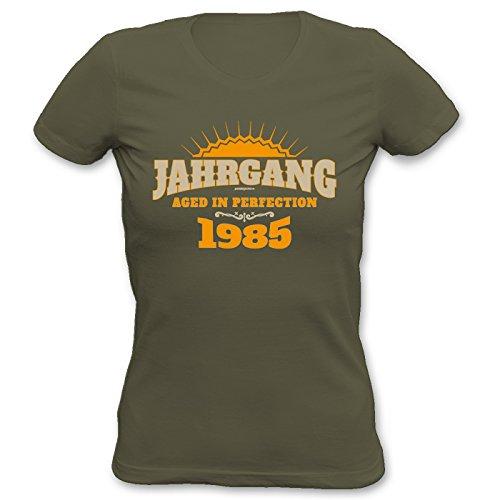 Girlie-Shirt ::: Jahrgang 1985 ::: zum Geburtstag Khaki