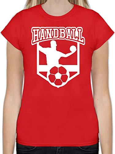 Handball WM 2019 - Handball Motiv - L - Rot - L191 - Tailliertes Tshirt für Damen und Frauen T-Shirt