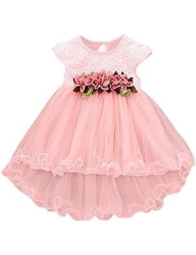Vovotrade Niñas bebés del niño Verano Floral Rosa Vestido princesa Boda del partido Tulle Vestidos de gasa