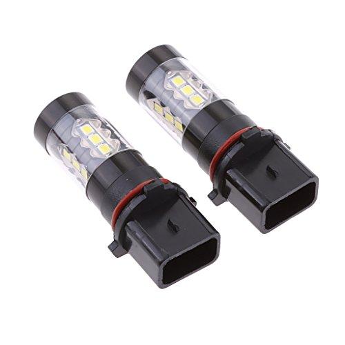 Preisvergleich Produktbild MagiDeal 1 Paar P13W PSX26W Auto LED Lampe 80W High Power DRL Beleuchtung Licht Weiß