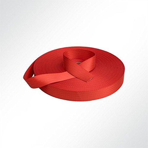 LYSEL Sicherheitsgurtband Pkw Autogurt Design 47mm 2650 Dan Rot Meterware