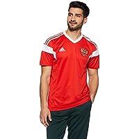 adidas Rusia Camiseta de Equipación, Hombre, Rojo/Blanco, L