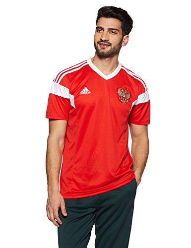 Adidas Rusia Camiseta de Equipación, Hombre, Rojo/Blanco, XL