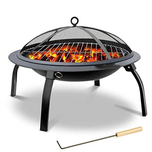 Folding BBQ Grill Im Freien Lagerfeuer Tragbarer BBQ Grill Holzkohle Heizung Brazier Geeignet Für Familien-Abendessen, Picknick Und Heizung