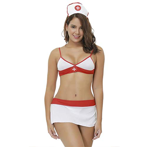 Manadlian Damen Lingerie Dessous-Sets Frauen Kostuem Krankenschwester Artzt aerztin Nurse Uniform Fasching Karneval ()