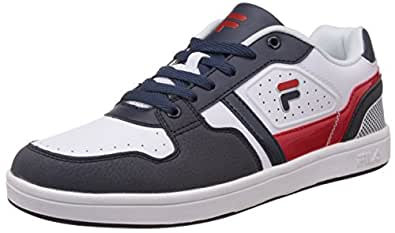 Fila Men's Retro 2 Navy, White and Red Sneakers -9 UK/India (43 EU)