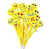 JZK 16 Nouveauté des stylos pour les enfants mignon stylo à bille en peluche Emoji biro stylo papeterie cadeau pour les filles enfants fête d'anniversaire sac filler parti faveur...