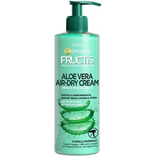 Garnier Fructis Aloe Vera Air-dry Cream mit Vegetal Glycerin und Aloe Vera Gel, 400 ml plus Schwebebürste - Haar-gel Garnier