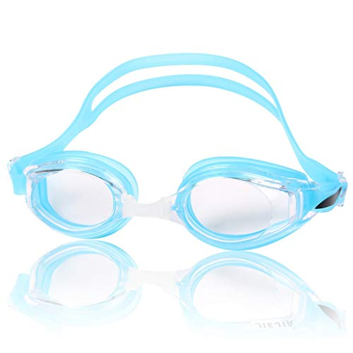 ZTMN Schwimmbrille Brille HD Männer und Frauen Schwimmbrille transparent wasserdicht Anti-Fog-Mode-Stil Silikon (Farbe: Himmelblau)