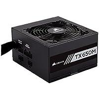 Corsair TXM Series TX650M - Fuente de alimentación ATX/EPS, 650 W, Semi Modular 80 PLUS Gold (CP-9020132-EU)