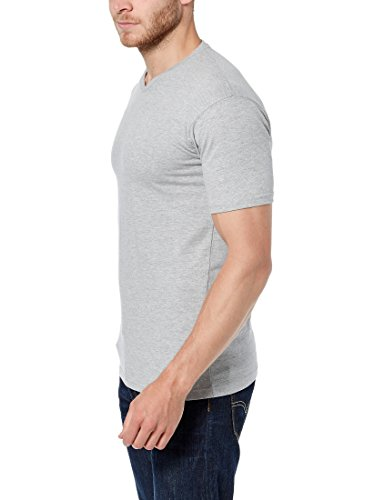 Lower East Herren T-Shirt mit V-Ausschnitt, 5er Pack Grau